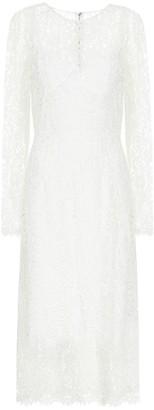 Dolce & Gabbana Floral-lace midi dress