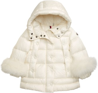 Moncler Brionnais Hooded Down Puffer Jacket with Genuine Fox Fur Trim