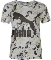 Puma Printed Logo T Shirt Ladies