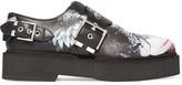 Alexander McQueen Printed Leather Platform Loafers - Black