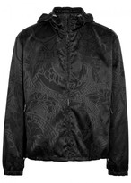 Versace Black Embroidered Satin Jacket