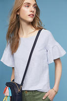 Anthropologie Christel Ruffled-Sleeve Top