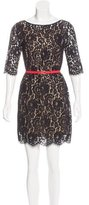 Robert Rodriguez Belted Lace Dress