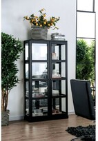 Leddy Transitional Wooden Curio Cabinet Charlton Home