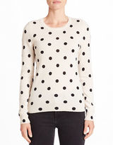 Lord & Taylor Dotted Cashmere Sweater