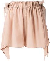 Fendi handkerchief hem scallopped shorts - women - Silk/Viscose - 40