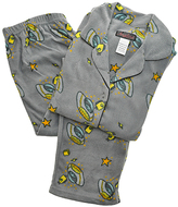 Angelina Gray Space Cartoon Giftable Fleece Pajama Set