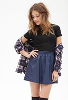 Forever 21 FOREVER 21+ Faux Leather Flared Skirt