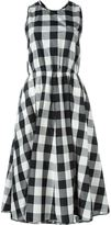 Rochas gingham print flared dress