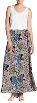Bobeau Wrap Woven Maxi Skirt