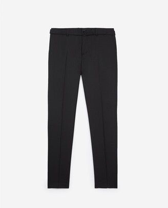 The Kooples Fitted black suit trousers in wool