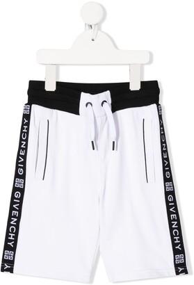 Givenchy Kids elasticated logo stripe shorts