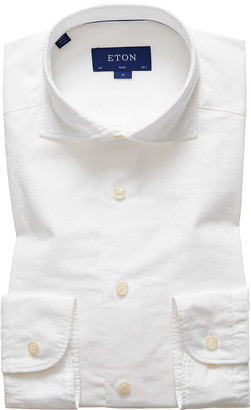 Eton Men's Slim-Fit Cotton-Silk Soft Casual Shirt