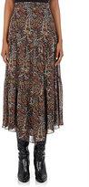 Saint Laurent Women's Folkloric-Print Midi-Skirt