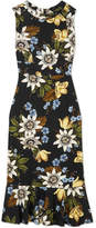 Erdem Grazia Floral-print Stretch-ponte Dress
