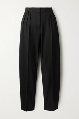 Acne Studios Pleated Grain De Poudre Tapered Pants - Black