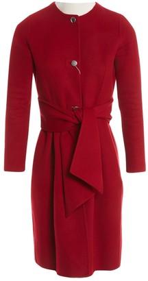 Carolina Herrera Red Wool Coat for Women