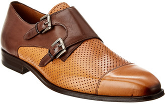 Mezlan Rocky Double Monk Leather Loafer