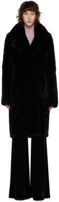 Yves Salomon Black Fur Long Coat