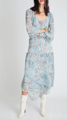 LoveShackFancy Carrillo Floral-Printed Georgette Midi Dress