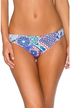 Sunsets Women's Low Rise Bikini Bottom Printed