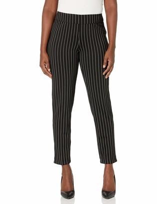 Slim Sation SLIM-SATION Women's Misses Rev Pull On Solid & Yd Stripe Ankle Pant