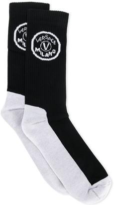 Versace Logo Knit Socks