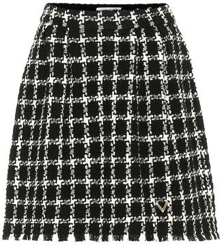 Valentino Tweed wool-blend miniskirt