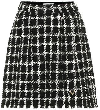 Valentino tweed wool-blend miniskirt