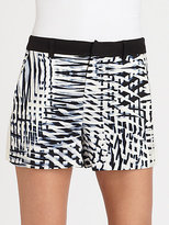 Parker Trio Printed Silk Crepe Shorts
