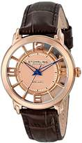 Stuhrling Original Women's Quartz Watch with Rose Gold Dial Analogue Display and Brown Leather Strap 360L.1245K14