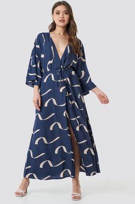 NA-KD Printed Coat Dress