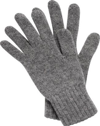 Scotlandshop Women's Cashmere Gloves made in Scotland (Light Grey)