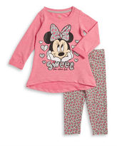 Nannette Baby Girls Minnie Mouse Hi-Lo Pullover and Leggings Set