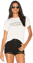 Spiritual Gangster My Religion Is Love Zen Tee in White. - size L (also in M,S,XS)