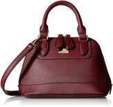 MG Collection Small Structured Satchel Shoulder Bag