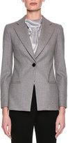 Giorgio Armani Classic Single-Button Blazer, Gray