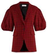 Sonia Rykiel Gingham puffed-shoulder wool jacket