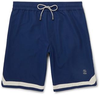 Brunello Cucinelli Mid-Length Contrast-Trimmed Swim Shorts