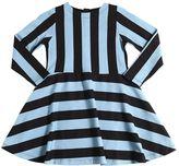 Molo Striped Light Cotton Sweatshirt Dress