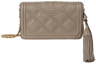 Tory Burch Fleming Soft Wallet Crossbody (Black) Handbags