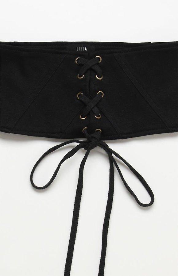 Lucca Couture Kiersten Lace-Up Corset Belt
