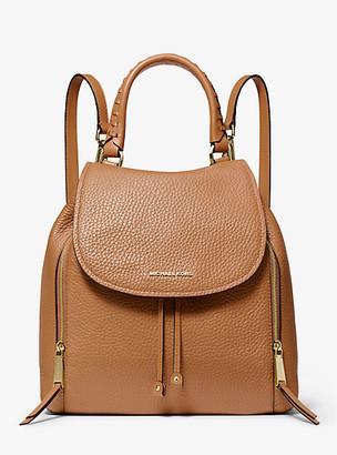 MICHAEL Michael Kors MK Viv Large Leather Backpack - Acorn - Michael Kors