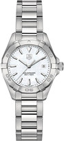 Tag Heuer WAY1412BA0920 Aquaracer polished steel and mother-of-pearl watch