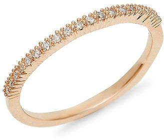 Saks Fifth Avenue 14K Rose Gold Diamond Band Ring