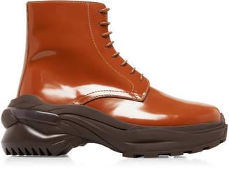 Maison Margiela Chunky Leather Lace-Up Boots