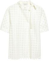 Sandro Silk-Trimmed Crochet-Knit Shirt
