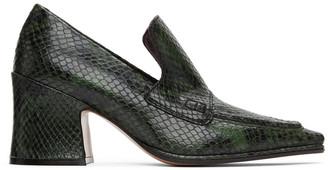 Dries Van Noten Green Snake Oxford Heels