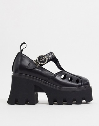 Lamoda chunky Mary-Jane shoes in black