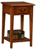 Leick Furniture Favorite Finds Square Side Table Medium Oak Finish